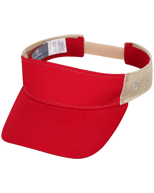 Top Of The World Adult Brink Visor - Red