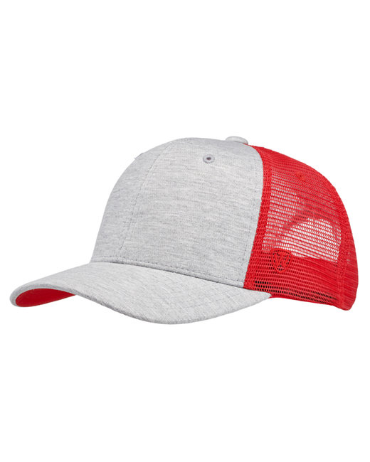 Top Of The World Cutter Jersey Snapback Trucker Hat - Red