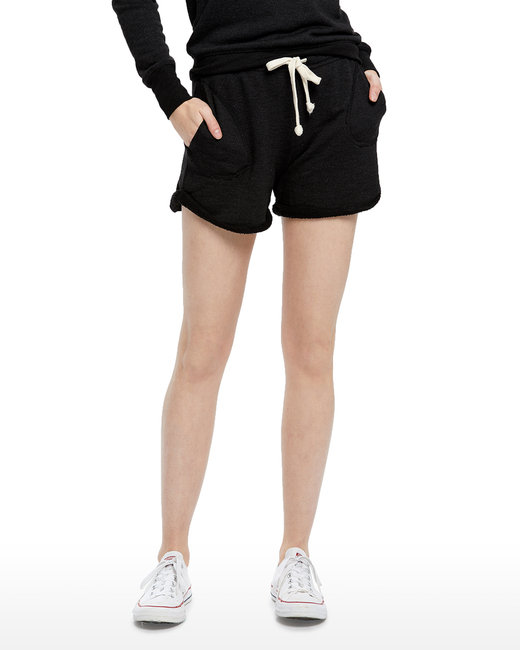 US Blanks Ladies' Casual French Terry Short - Tri Charcoal