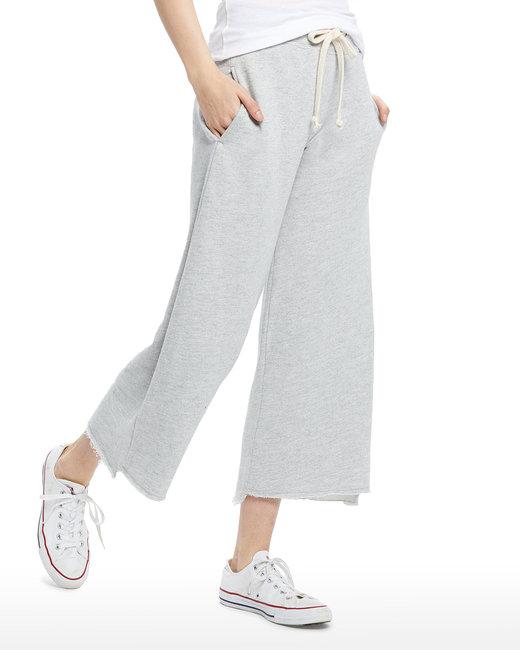 US Blanks Ladies' Tri-blend Flare Pant - Heather Grey