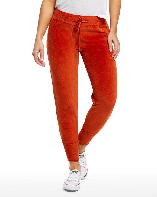 US Blanks Ladies' Velour Pants - Rust