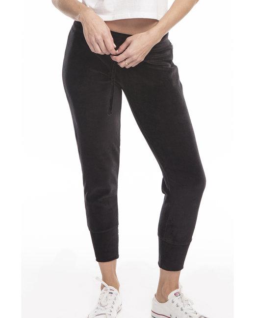 US Blanks Ladies' Velour Pants - Black