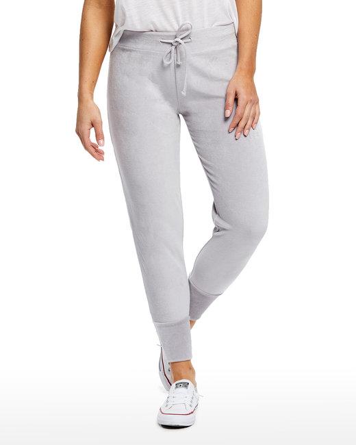 US Blanks Ladies' Velour Pants - Silver
