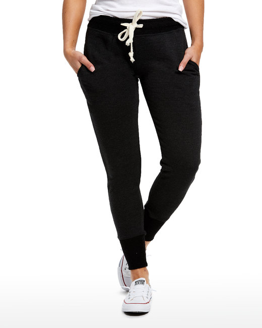 US Blanks Ladies' French Terry Sweatpant - Tri Charcoal