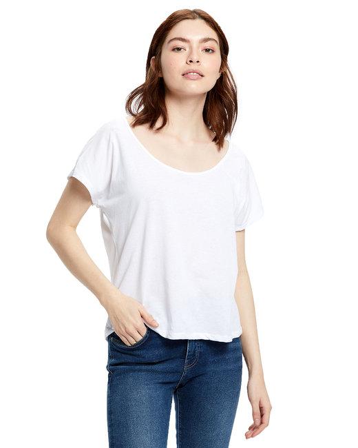 US Blanks Ladies' Recycled Scoop Blouse - White