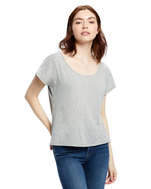 US Blanks Ladies' Recycled Scoop Blouse - Smoke Grey