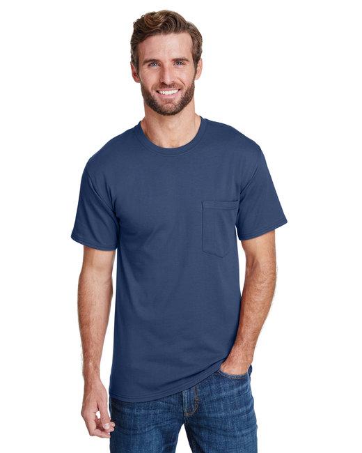 Hanes Adult Workwear Pocket T-Shirt - Navy
