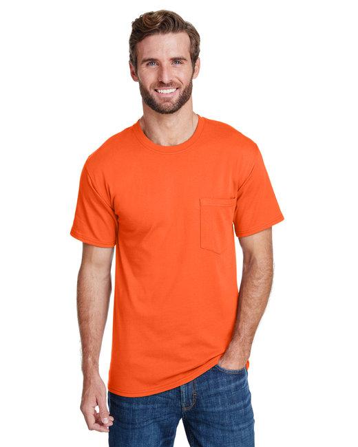 Hanes Adult Workwear Pocket T-Shirt - Safety Orange