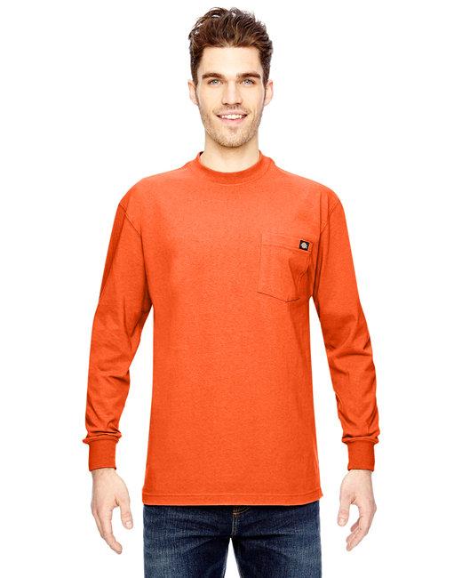 Dickies Men's 6.75 oz. Heavyweight WorkLong-Sleeve T-Shirt - Orange