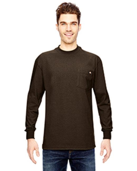 Dickies Men's Tall 6.75 oz. Heavyweight Work Long-Sleeve T-Shirt - Chocolate Brown
