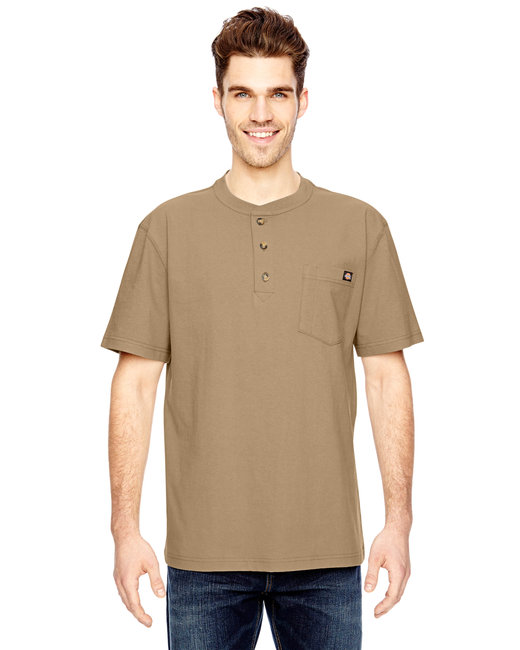Dickies Men's 6.75 oz. Heavyweight Work�Henley - Desert Sand