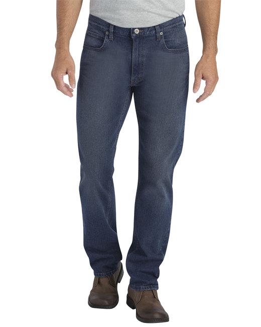 Dickies Men's X-Series Regular Fit Straight-Leg 5-Pocket Denim Jean Pant - D Wsh Str Ind  34