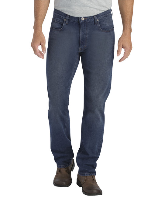 Dickies Men's X-Series Regular Fit Straight-Leg 5-Pocket Denim Jean Pant - D Wsh Str Ind  38