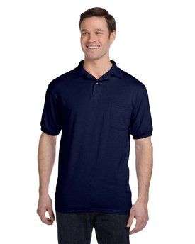 054P Hanes Adult 5.2 oz., 50/50 EcoSmart® Jersey Pocket Polo