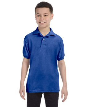 054Y Hanes Youth 5.2 oz., 50/50 EcoSmart® Jersey Knit Polo