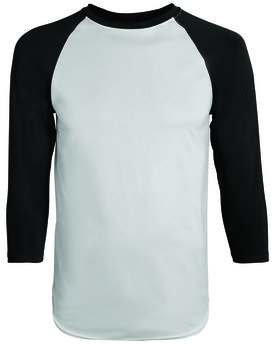 1505 Augusta Drop Ship Adult Wicking Polyester 3/4 Raglan Sleeve T-Shirt