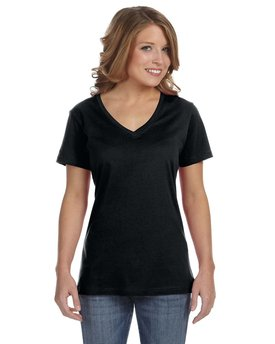 392A Anvil Ladies' Featherweight V-Neck T-Shirt