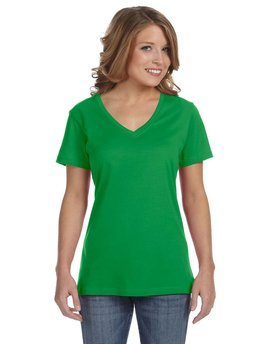 392A Anvil Ladies' Ringspun Featherweight V-Neck T-Shirt