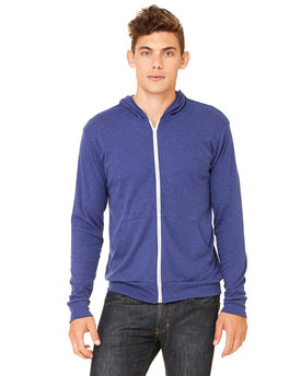 3939 Bella + Canvas Unisex Triblend Full-Zip Lightweight Hoodie