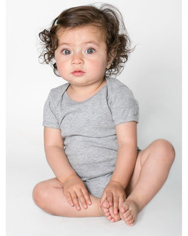 4001 American Apparel Infant Baby Rib Short-Sleeve One-Piece