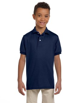 437Y Jerzees Youth 5.6 oz., SpotShield™ Jersey Polo