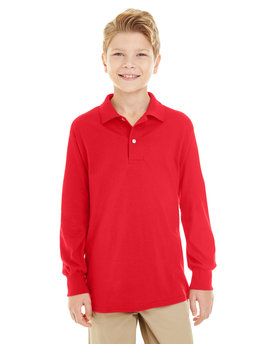 437YL Jerzees Youth 5.6 oz. SpotShield™ Long Sleeve Jersey Polo