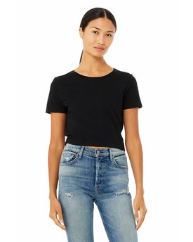 6681 Bella + Canvas Ladies' Poly-Cotton Crop T-Shirt