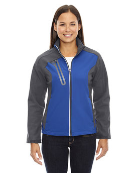 78176 NORTH Ladies' Terrain Colorblock Soft Shell with Embossed Print