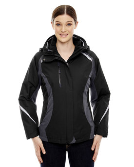 78195 Ash City - North End Ladies' Height 3-in-1 Jacket with Insulated Liner