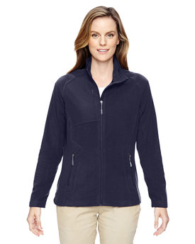 78215 North End Ladies' Excursion Trail Fabric-Block Fleece Jacket