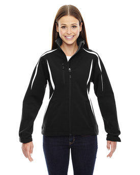 78650 NORTH Ladies' Enzo Colorblocked Three-Layer Fleece Bonded Soft Shell Jacket