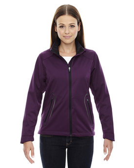 78655 NORTH Ladies' Splice Three-Layer Light Bonded Soft Shell Jacket with Laser Welding