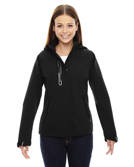 78665 NORTH Ladies' Axis Soft Shell Jacket with Print Graphic Accents