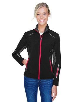 78678 NORTH Ladies' Pursuit Three-Layer Light Bonded Hybrid Soft Shell Jacket with Laser Perforation