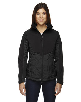 78679 Ash City - North End Ladies' Innovate Insulated Hybrid Soft Shell Jacket