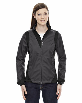 78686 NORTH Ladies' Commute Three-Layer Light Bonded Two-Tone Soft Shell Jacket with Heat Reflect Technology