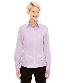 78689 Ash City - North End Sport Blue Ladies' Refine Wrinkle-Free Two-Ply 80's Cotton Royal Oxford Dobby Taped Shirt
