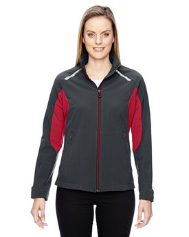 78693 NORTH Ladies' Excursion Soft Shell Jacket with Laser Stitch Accents