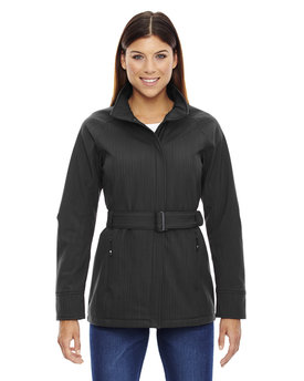 78801 Ash City - North End Ladies' Skyscape Three-Layer Textured Two-Tone Soft Shell Jacket