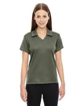 78803 NORTH Ladies' Exhilarate Coffee Charcoal Performance Polo with Back Pocket