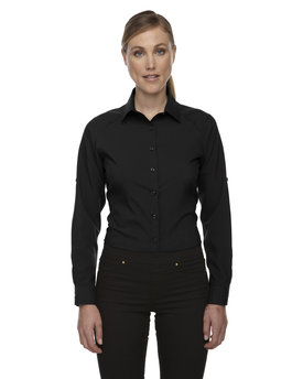 78804 Ash City - North End Ladies' Rejuvenate Performance Shirt with Roll-Up Sleeves