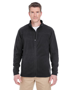 8185 UltraClub Men's Cool & Dry Full-Zip Microfleece