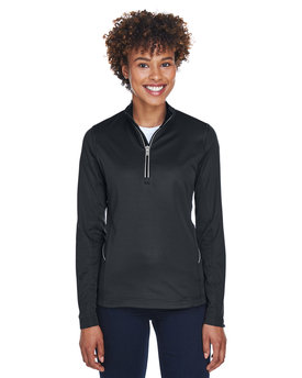 8230L UltraClub Ladies' Cool & Dry Sport Quarter-Zip Pullover