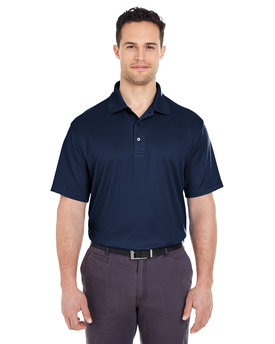 8305 UltraClub Men's Cool & Dry Elite Mini-Check Jacquard Polo