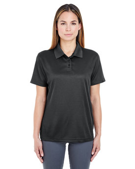 8305L UltraClub Ladies' Cool & Dry Elite Mini-Check Jacquard Polo