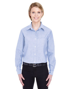 8361 UltraClub Ladies' Long-Sleeve Performance Pinpoint