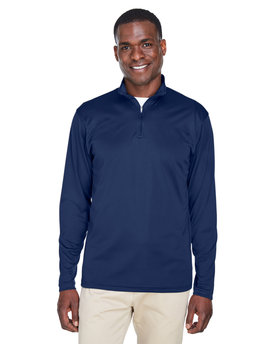 8424 UltraClub Men's Cool & Dry Sport Performance Interlock Quarter-Zip Pullover