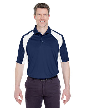 8427 UltraClub Adult Cool & Dry Sport Performance Colorblock Interlock Polo