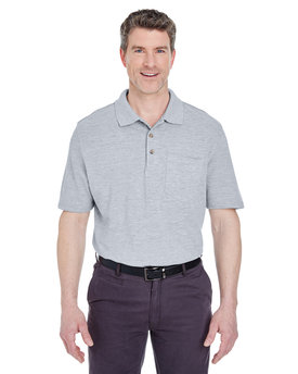 8534 UltraClub Adult Classic Piqué Polo with Pocket