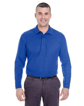 8542 UltraClub Adult Long-Sleeve Whisper Piqué Polo